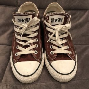 Converse Brown & White Chuck Taylor Low Tops